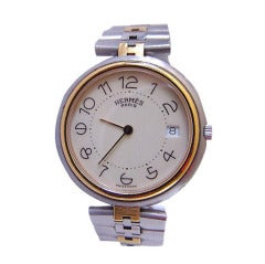 HERMES Unisex watch NO longer made Style Steel CLIPPER