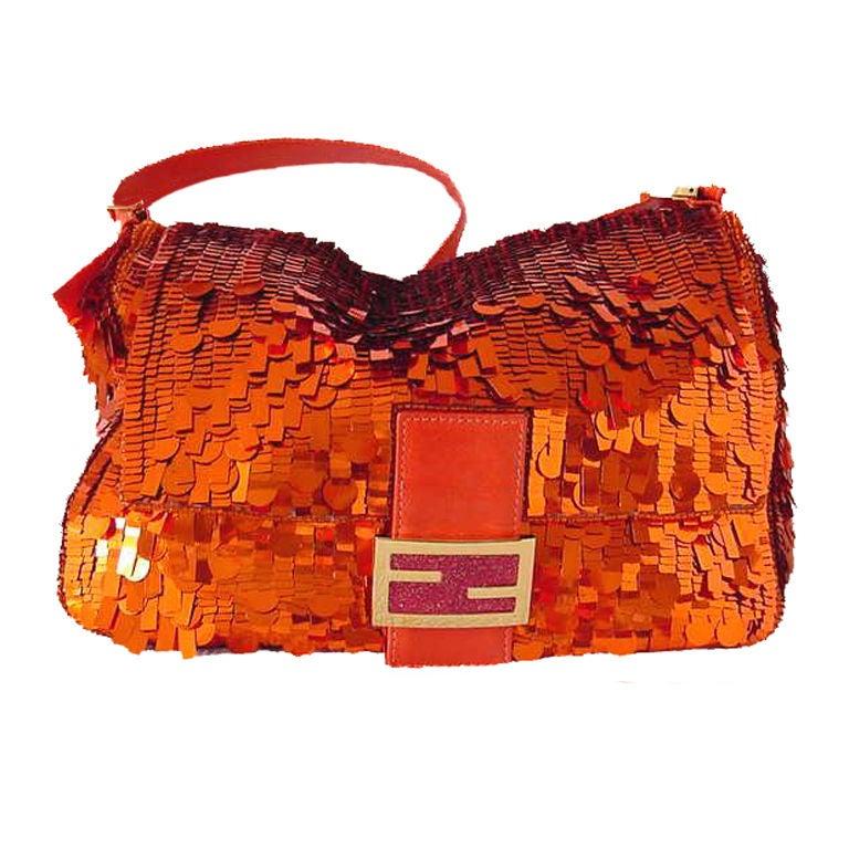 5568807d0aeb FENDI Baguette 2DIE4 PAILLETTES Utterly STUNNING rare bag For Sale