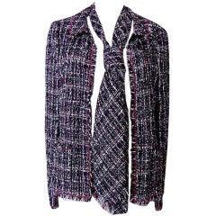 CHANEL 05P Runway Fantasy Tweed w/ Tie Jacket