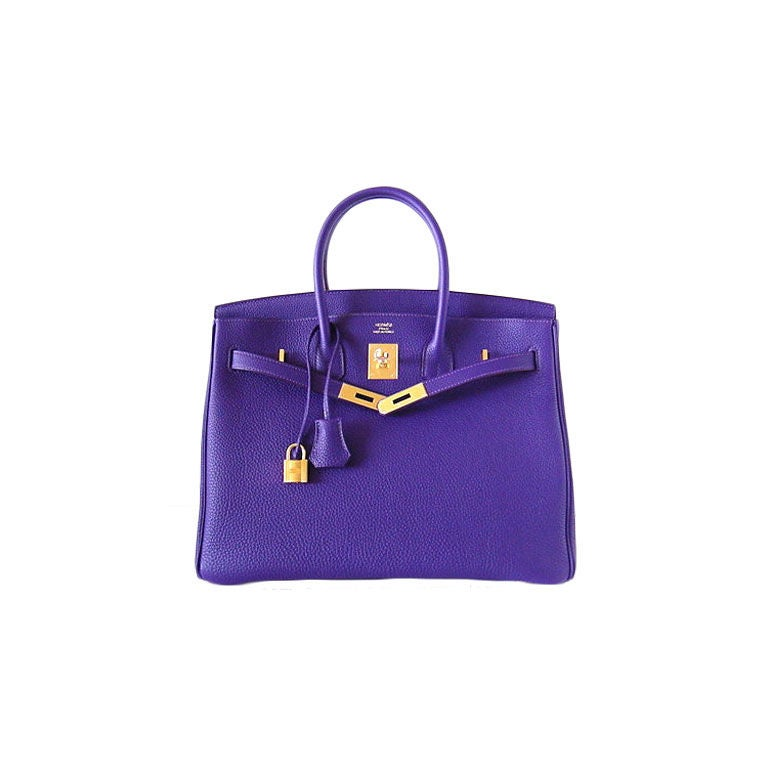 HERMES BIRKIN 35 IRIS Gold Hardware Jewel of a bag 1
