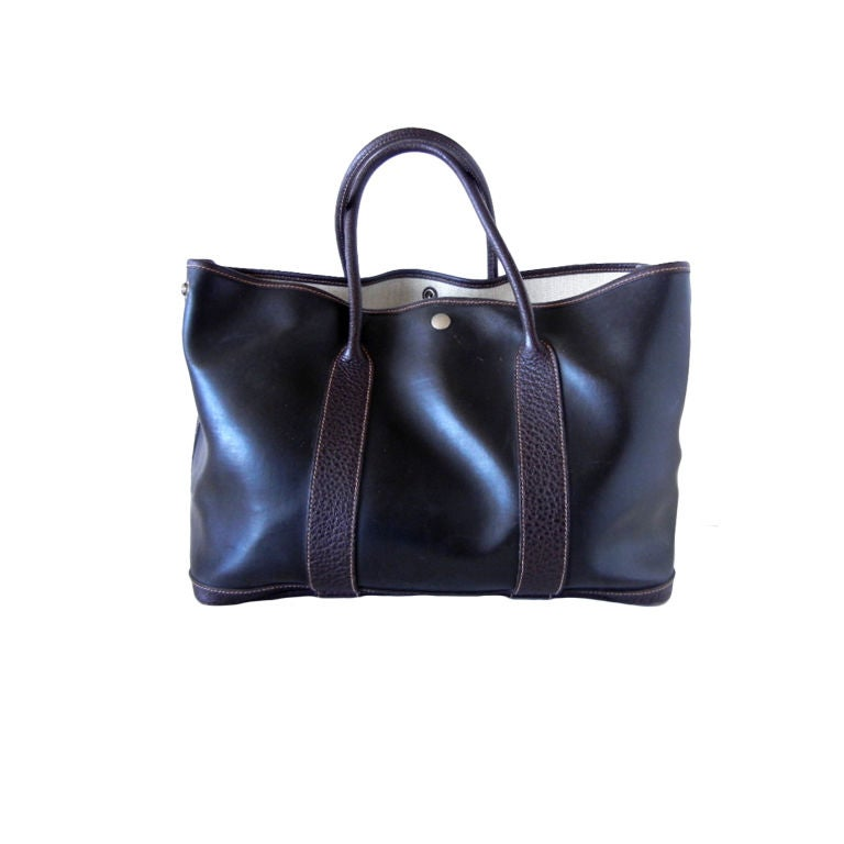 Hermes Garden Party Tote Bag Amazonia Buffalo Leather At
