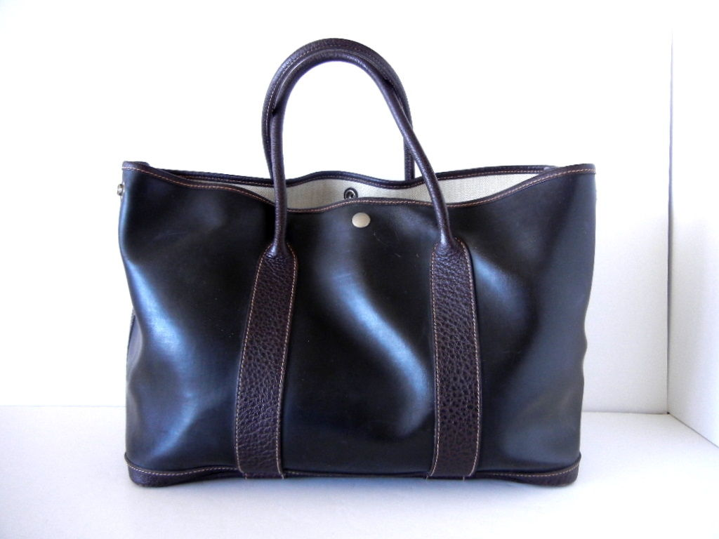 hermes garden party tote bag amazonia buffalo leather at 1stdibs. Black Bedroom Furniture Sets. Home Design Ideas