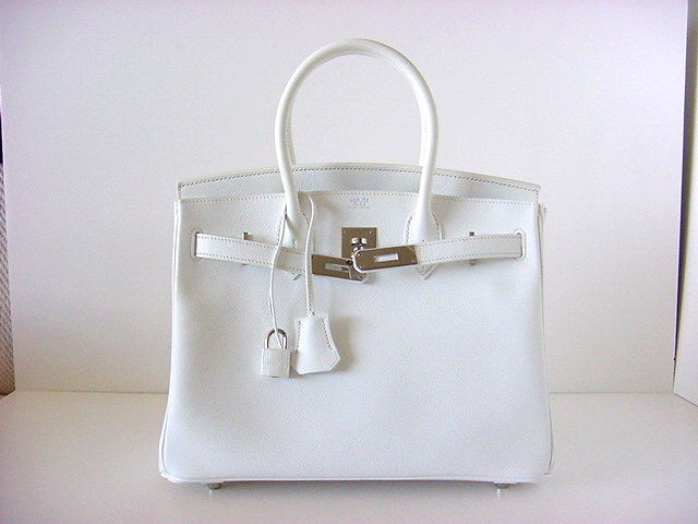 HERMES BIRKIN 30 Bag Sparkling Snow WHITE/Pall SO fresh image 2