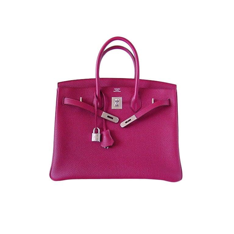 HERMES BIRKIN 35 Bag RUBIS new COLOUR for the season For Sale