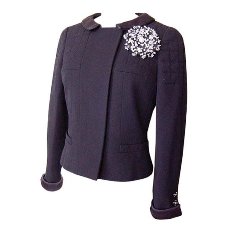 CHANEL 06A Jacket 2DIE4 Detachable Pin DIVINE buttons superb dtl 1