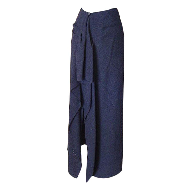 Chanel 98A Long Straight Skirt Beautifully Draped Rear 36 ...