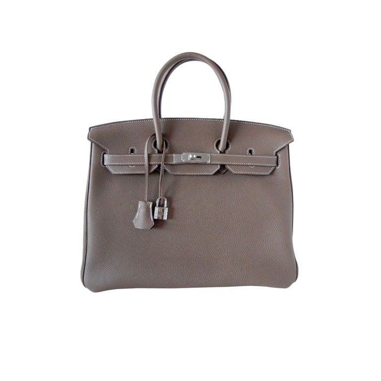 HERMES BIRKIN 35 Bag ETOUPE coveted PERFECT neutral 1