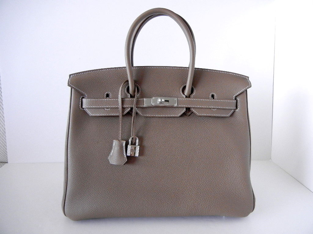 HERMES BIRKIN 35 Bag ETOUPE coveted PERFECT neutral 2