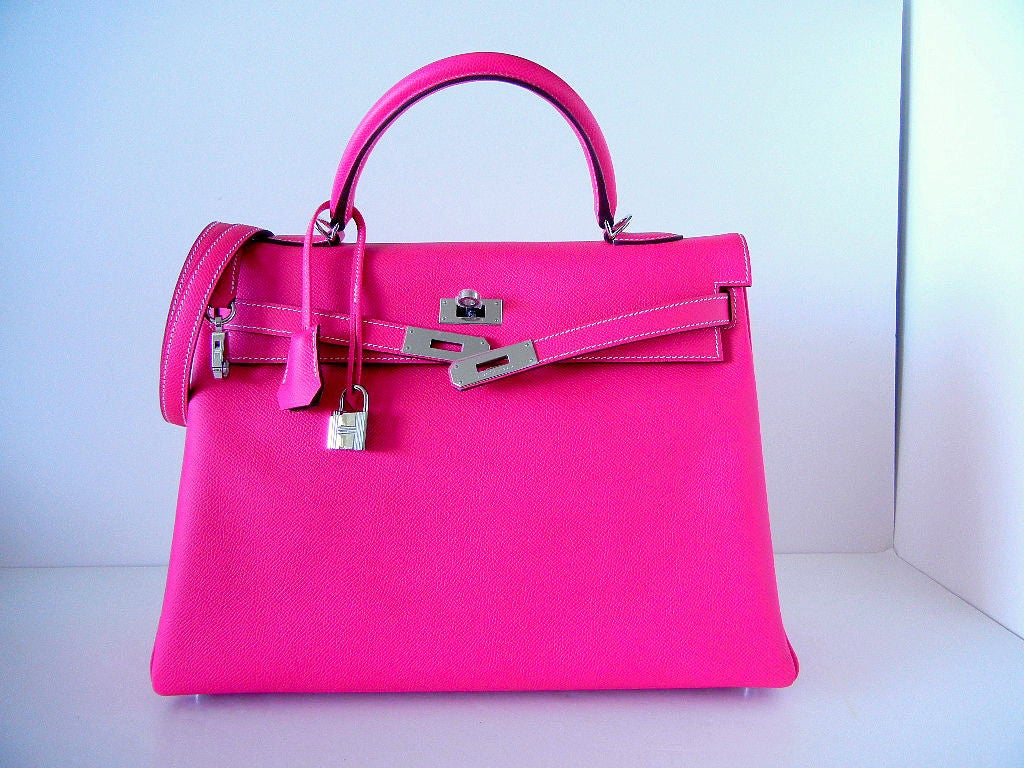 HERMES KELLY 35 Supple Bag Candy ROSE TYRIEN 2tone 2
