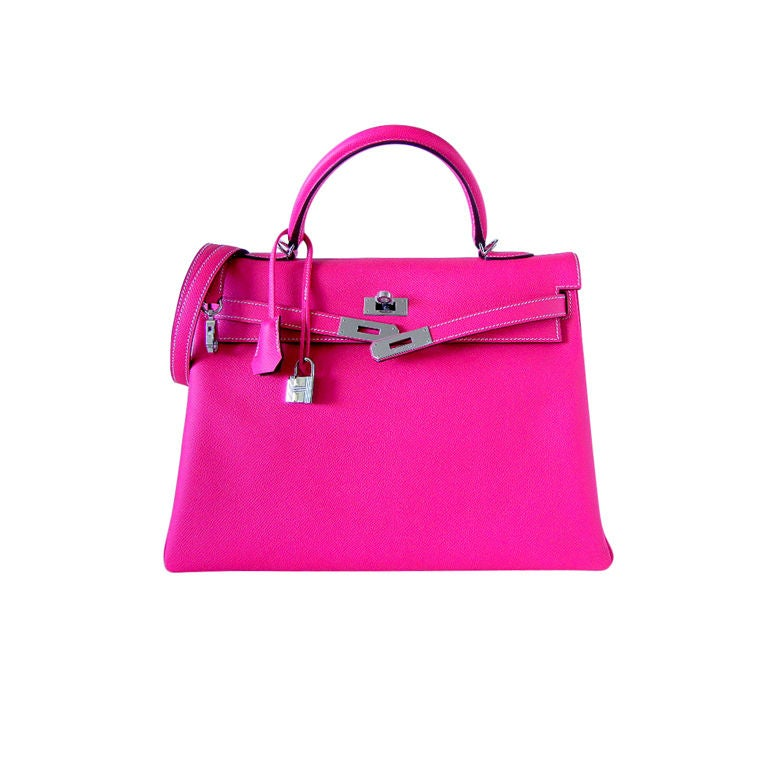 HERMES KELLY 35 Supple Bag Candy ROSE TYRIEN 2tone at 1stdibs