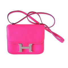 HERMES MINI CONSTANCE limited edition ROSE TYRIEN