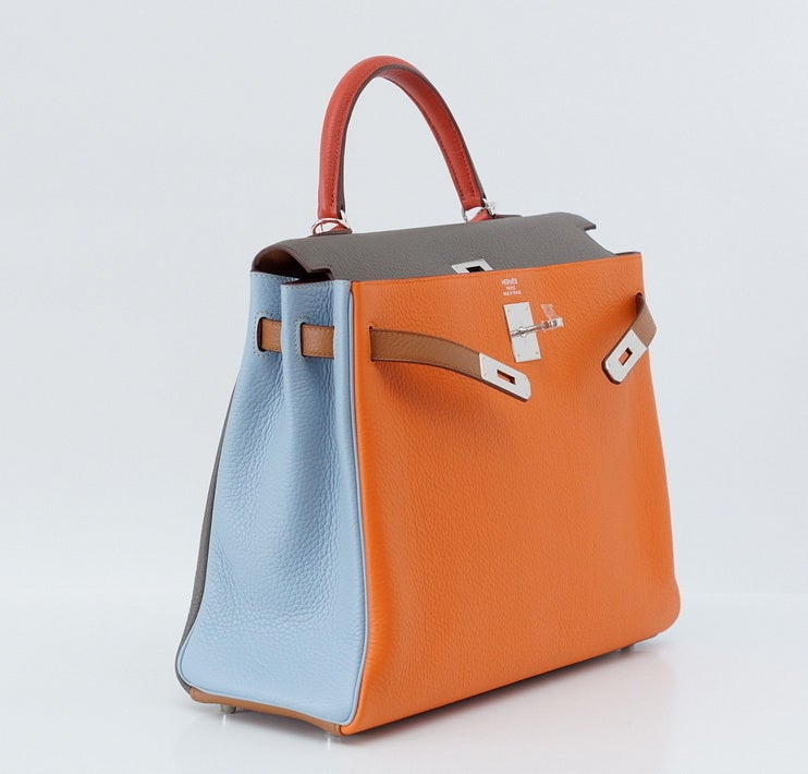 the kelly hermes bag - HERMES KELLY 35 Supple ARLEQUIN harlequin bag Limited Edition at ...