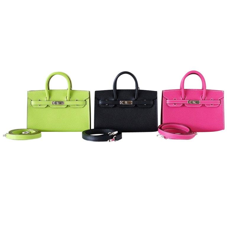 Hermes Mini Miniature Limited Edition Birkin Bag At 1stdibs