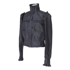 CHANEL 07C Jacket Feather Light Silk Faille 42 / 8 Nwt