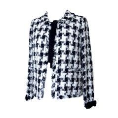 CHANEL 04A Jacket Fantasy Tweed Pretty Bows 42 / 8