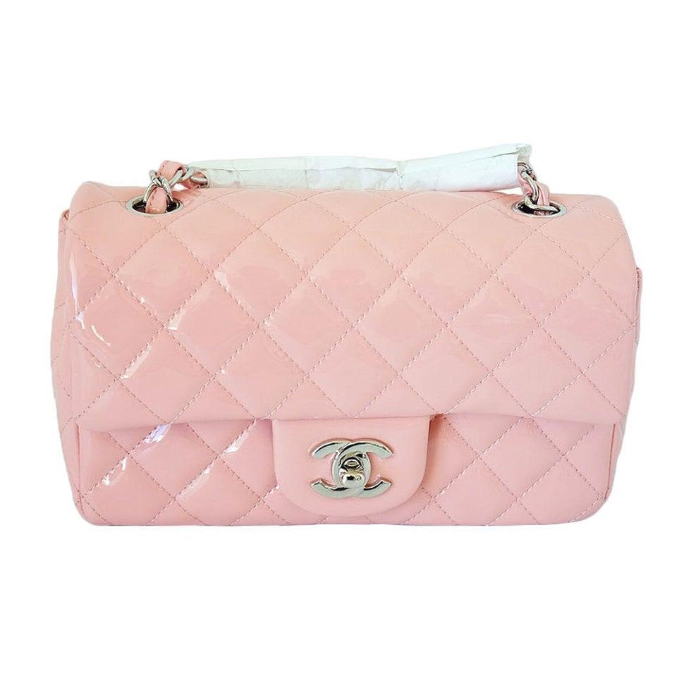 CHANEL flap bag MINI patent leather pink Cruise 2013 NEW/box 1