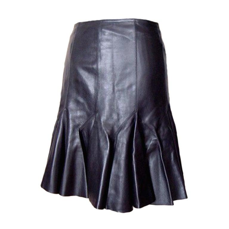 azzedine alaia leather skirt new tag 38 4 drop dead
