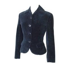Azzedine Alaia jacket divine shaping pin stripe velvet 4