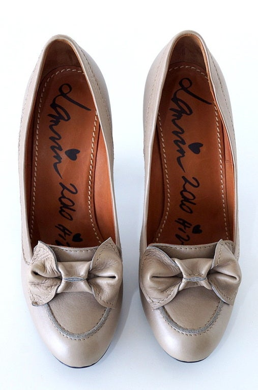 LANVIN Shoe 2010 Pump Bow Loafer Style 39 / 9 New 2