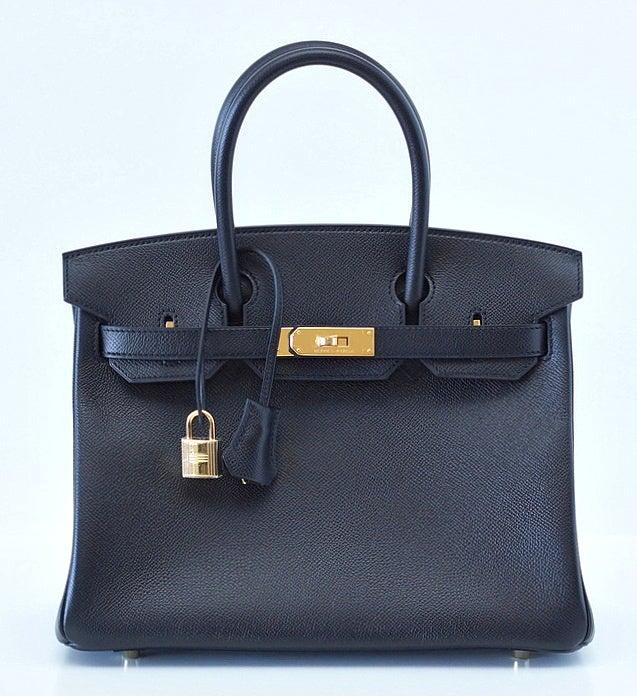 HERMES BIRKIN 30 Bag BLACK Gold hardware epsom leather 2