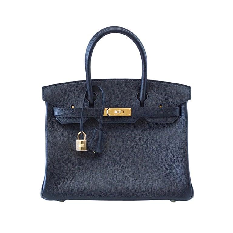 HERMES BIRKIN 30 Bag BLACK Gold hardware epsom leather 1