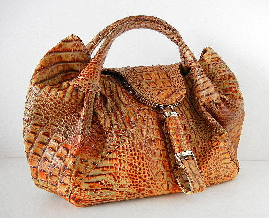 FENDI bag $12000 ALLIGATOR Spy Large beautiful Limited Edition image 2