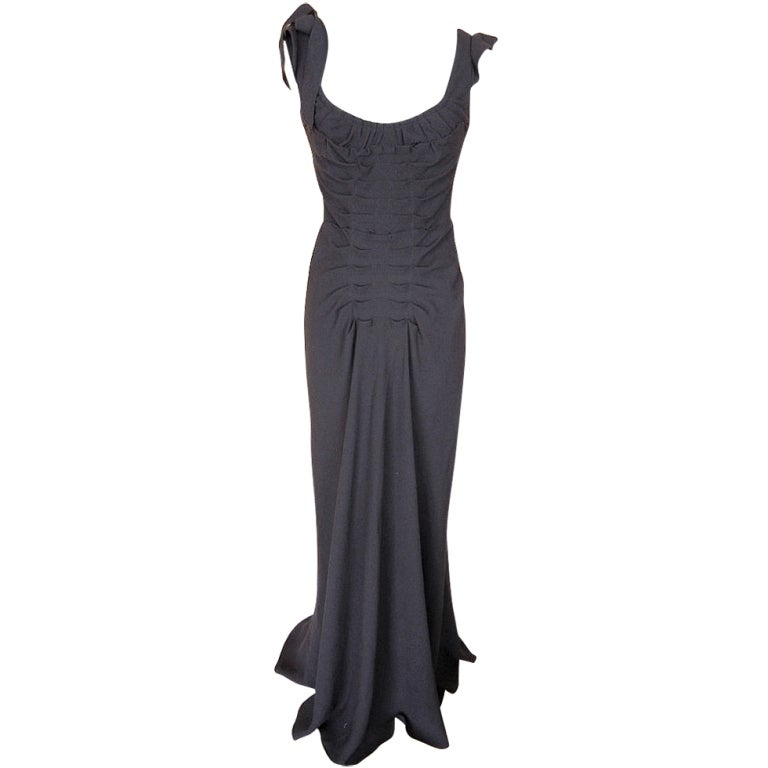 Prada Dress Gown Divine Cut Front and Rear Pleating  40 /  6 1