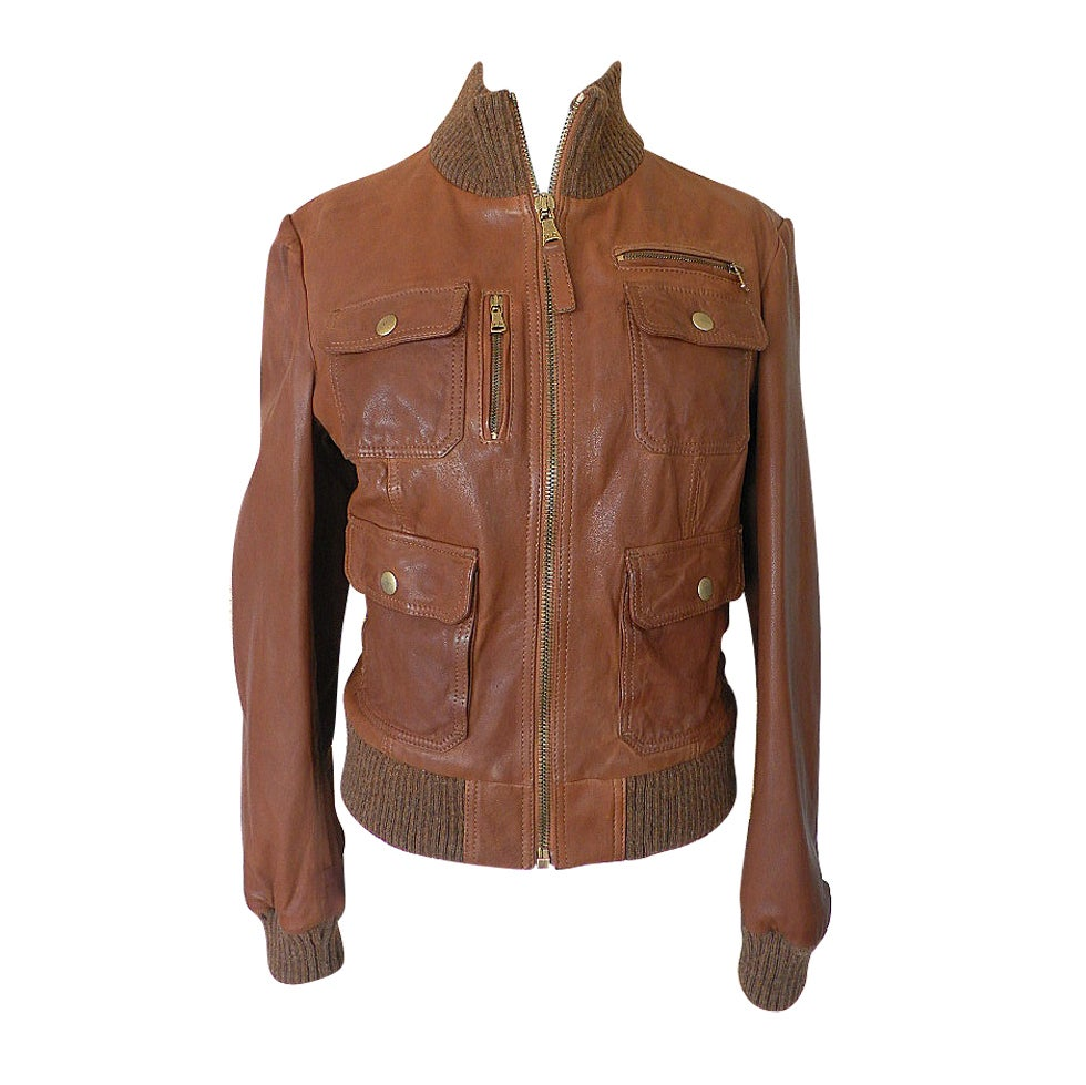 D and g leather jacket