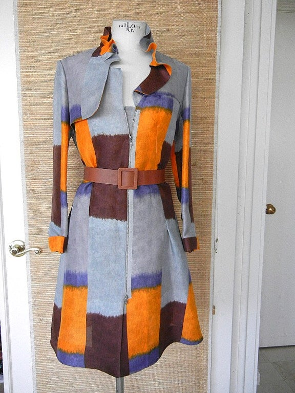 MARNI duster coat dress divine colours styling detail 6 NWT 2