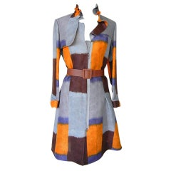 MARNI duster coat dress divine colours styling detail 6 NWT
