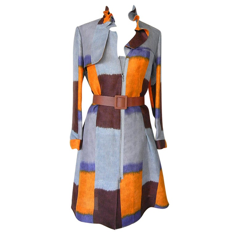 MARNI duster coat dress divine colours styling detail 6 NWT 1