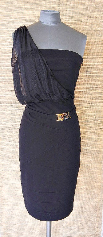FENDI dress strapless 1 shoulder detail amazing fit 4 NWT 2