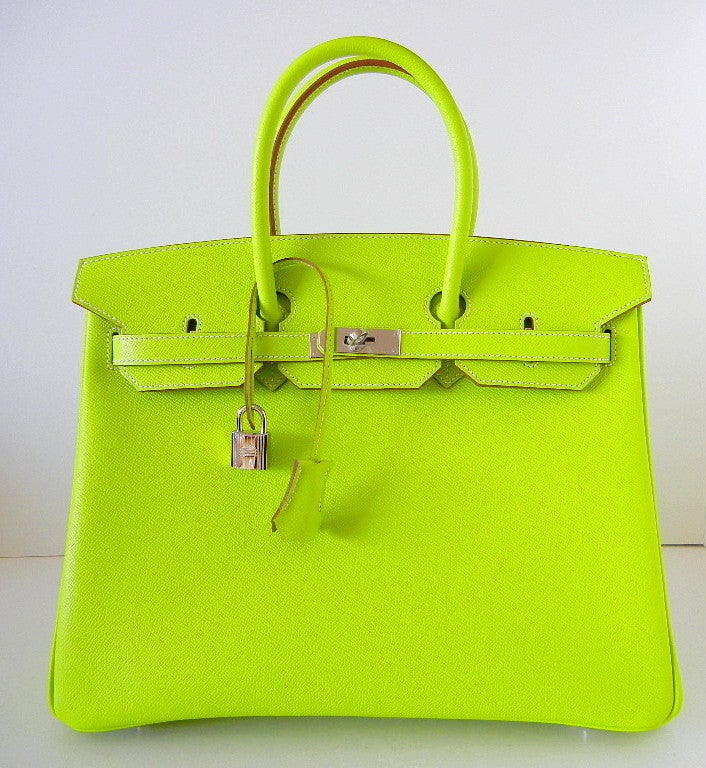 discount birkin bag - HERMES BIRKIN bag 35 Candy Series Limited Edition KIWI at 1stdibs
