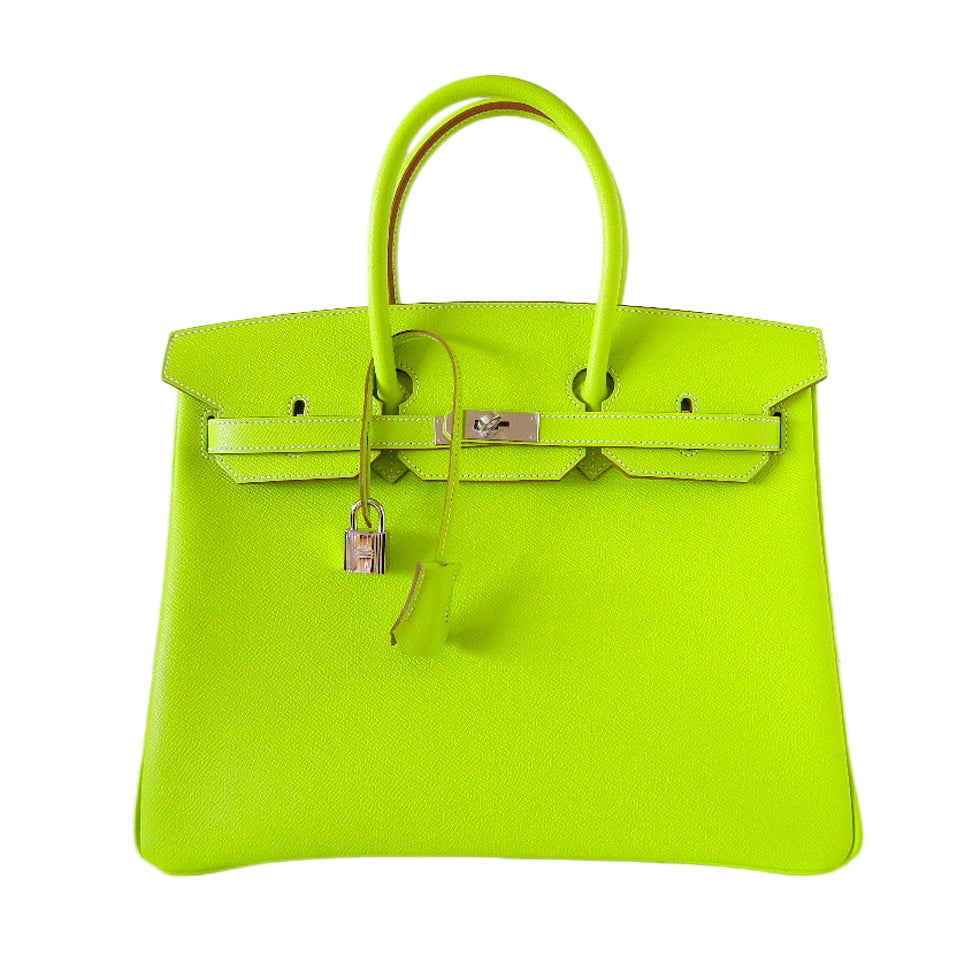 HERMES BIRKIN bag 35 Candy Series Limited Edition KIWI