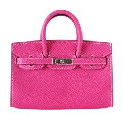 HERMES Mini Miniature LIMITED EDITION Birkin bag ROSE TYRIEN Eps
