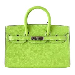HERMES Mini Miniature LIMITED EDITION Birkin bag KIWI Epsom