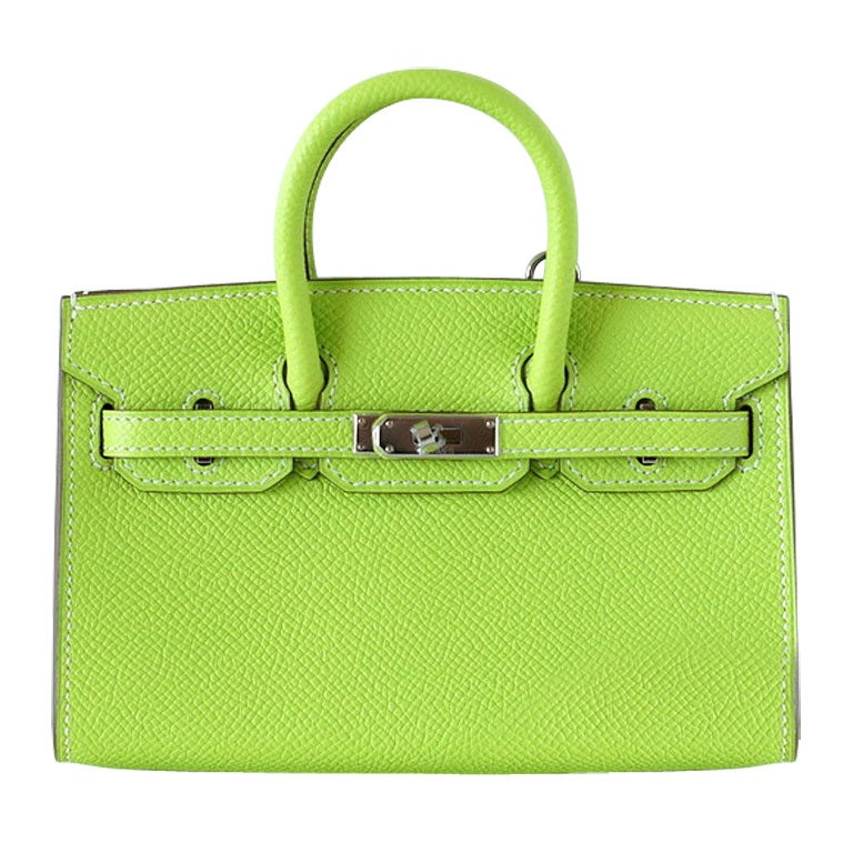 cheap croc look alikes - HERMES Mini Miniature LIMITED EDITION Birkin bag KIWI Epsom at 1stdibs