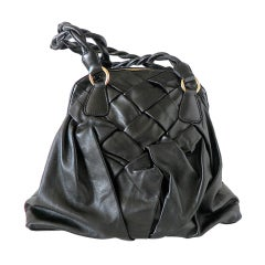 VALENTINO bag lovely leather work very soft  roomy day size