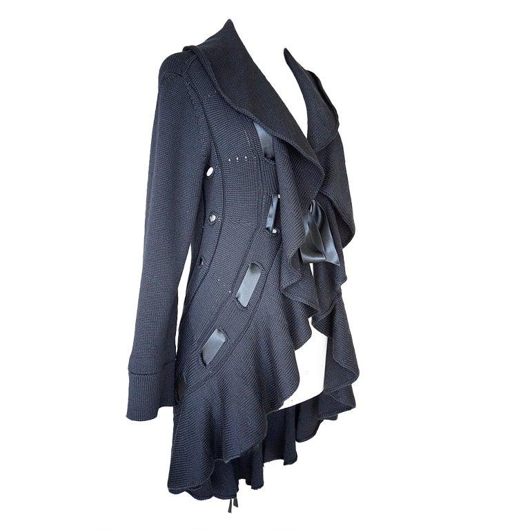 VALENTINO Sweater Long Cardigan Dramatic XL Nwt