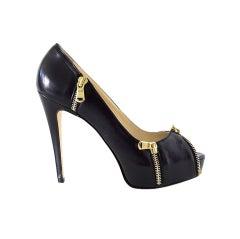BRIAN ATWOOD shoe Julep platform pump 7.5 37.5 bold zips NEW