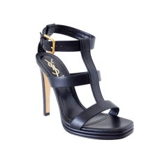 Yves Saint Laurent Shoe Bold Strappy Platform Heel 39 / 9