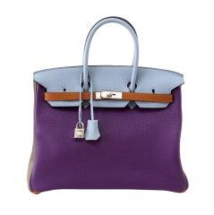 Hermes Birkin 35 Arlequin Harlequin Limited Edition Clemence Bag