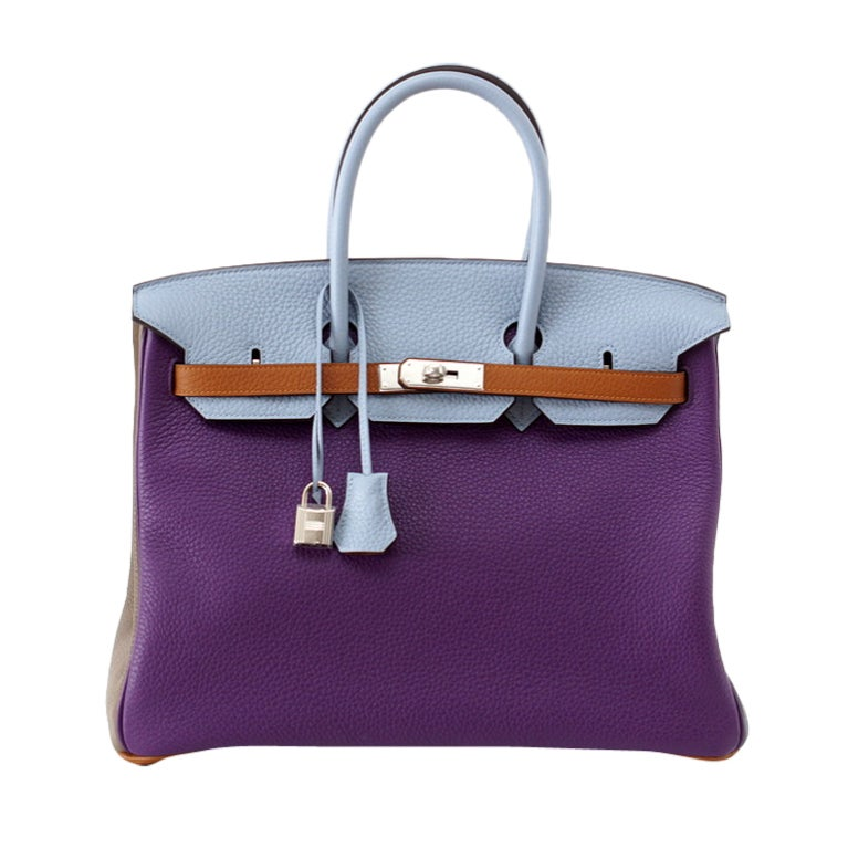 Hermes Birkin 35 Arlequin Harlequin Very Rare Limited Edition Clemence Bag