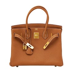HERMES BIRKIN 30 bag GOLD gold hardware coveted classic