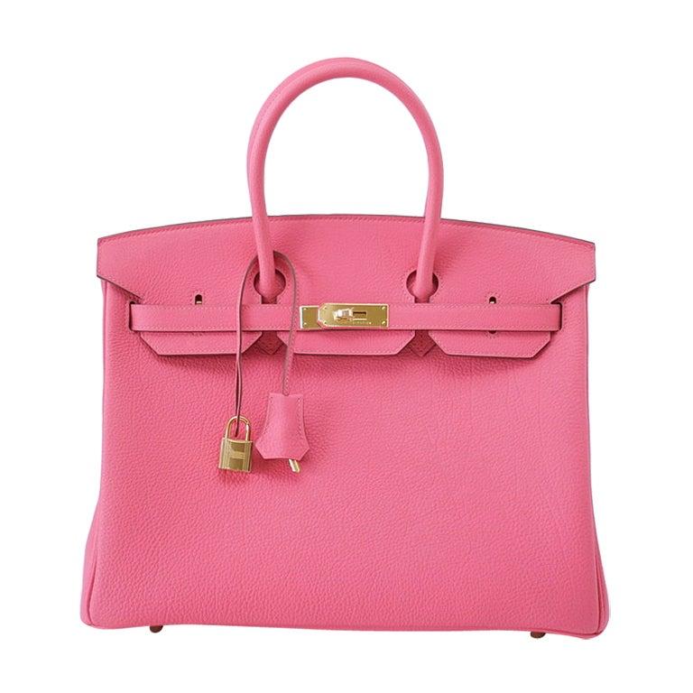 HERMES BIRKIN 35 Bag ROSE LIPSTICK gold hardware divine new pink 1