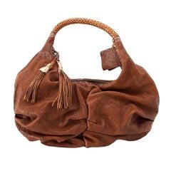 HENRY BEGUELIN Bag washed leather tassles heaps details New