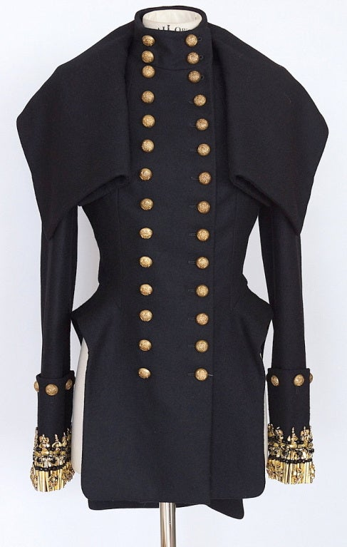 ALEXANDER MCQUEEN military jacket coat jeweled NEW 44 2