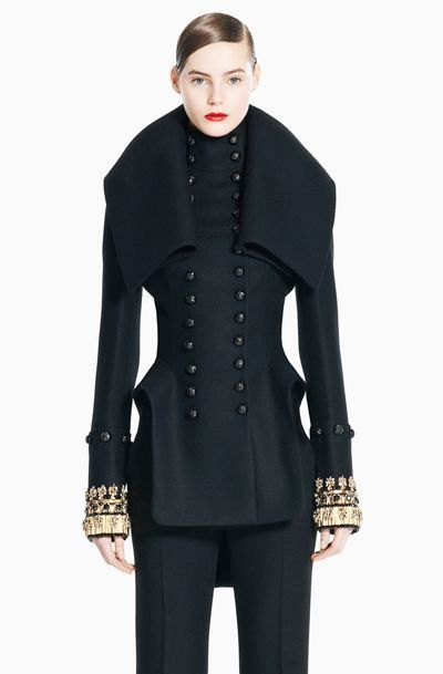 ALEXANDER MCQUEEN military jacket coat jeweled NEW 44 5