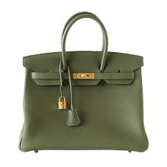 HERMES BIRKIN 35 Vert Canopee Gold hardware NEW colour