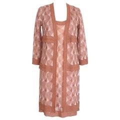 Missoni Dress with Jacket Knit Set Divine Deco Design Chic 42 / 8
